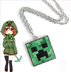 minecraft creeper pendant green necklace makes
