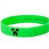 minecraft rubber bracelet green creeper grow