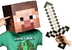 minecraft steve head sword costume crafted