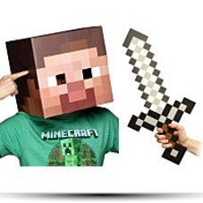 Minecraft 12 Steve Head And Sword Costume