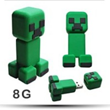 Minecraft Creeper Jj Monster 3D Usb Flash