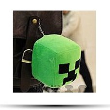 Minecraft Creeper Jj Monster Plush Keychain