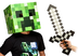 minecraft creeper head sword costume crafted