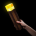 minecraft light-up torch officially licensed collectible