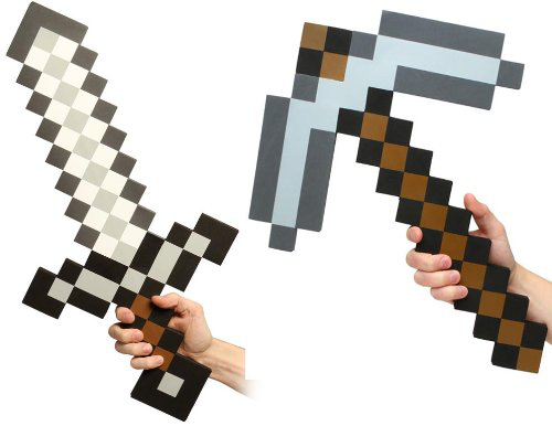 Minecraft Foam Sword And Pickaxe Combo Set Of 2
