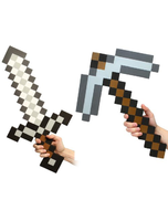 Minecraft Foam Sword And Pickaxe Combo